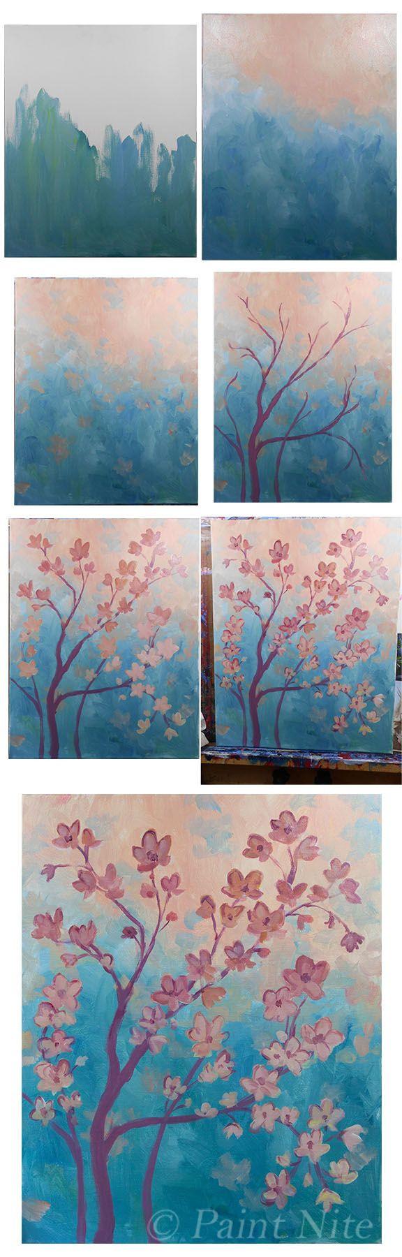 Canvas Beginner Step By Easy Paintings Novocom Top