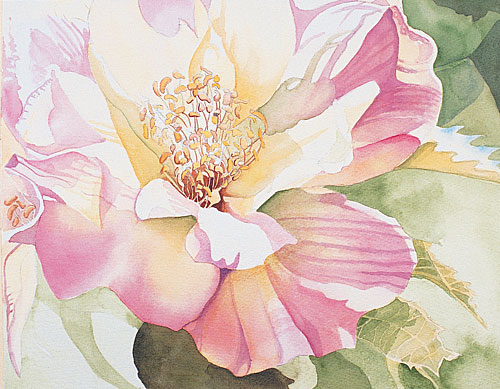 watercolor painting flowers at