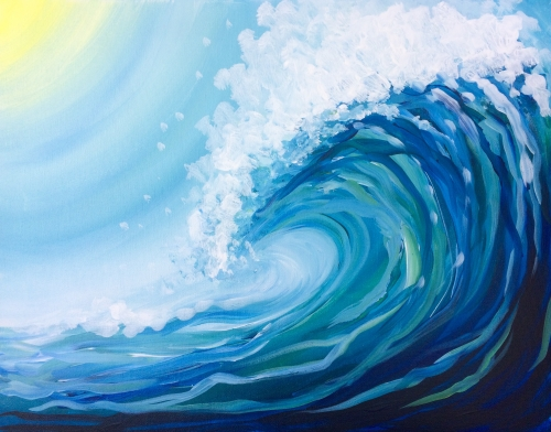 wave painting at paintingvalley