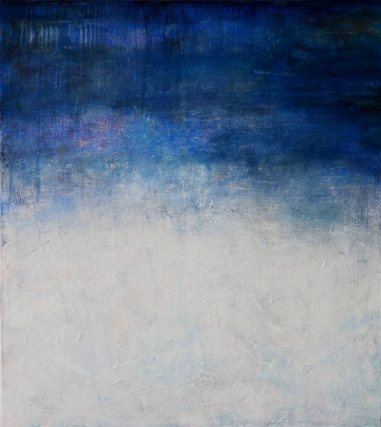white abstract painting at