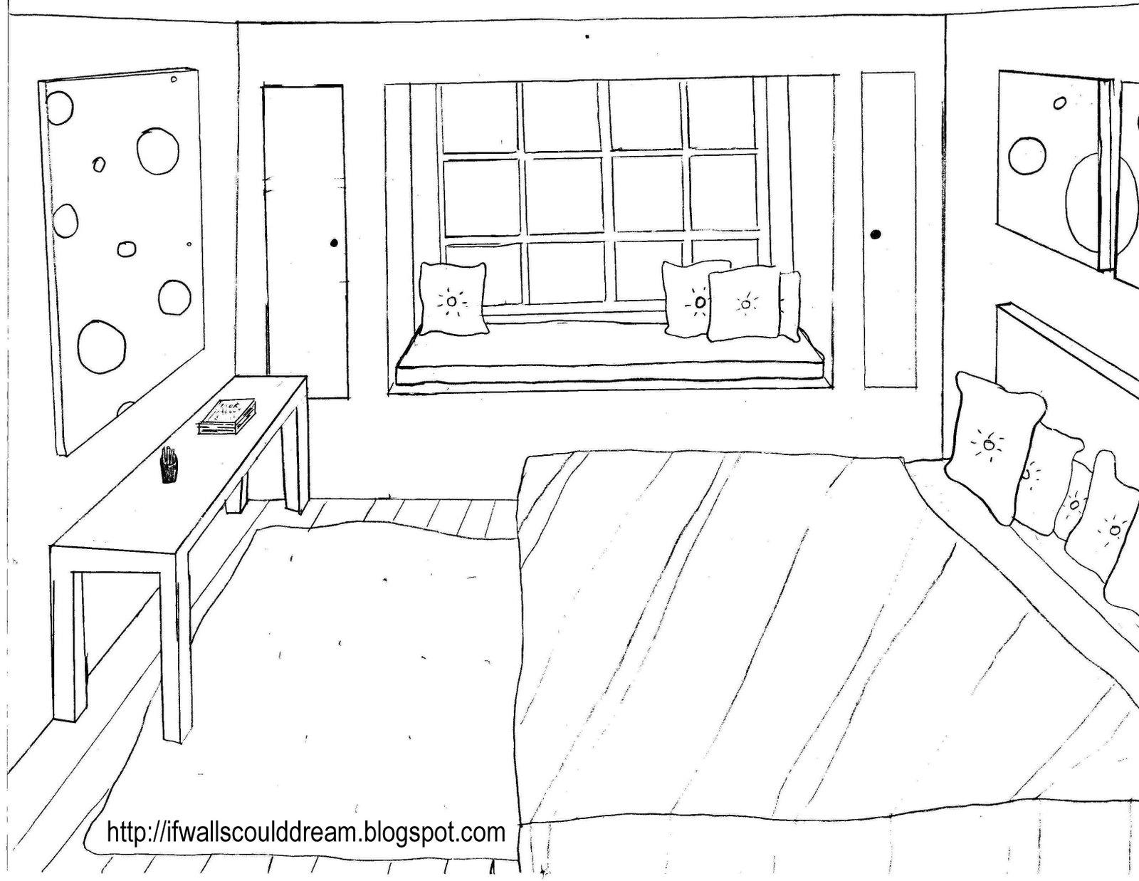 3d Bedroom Sketch At Paintingvalley