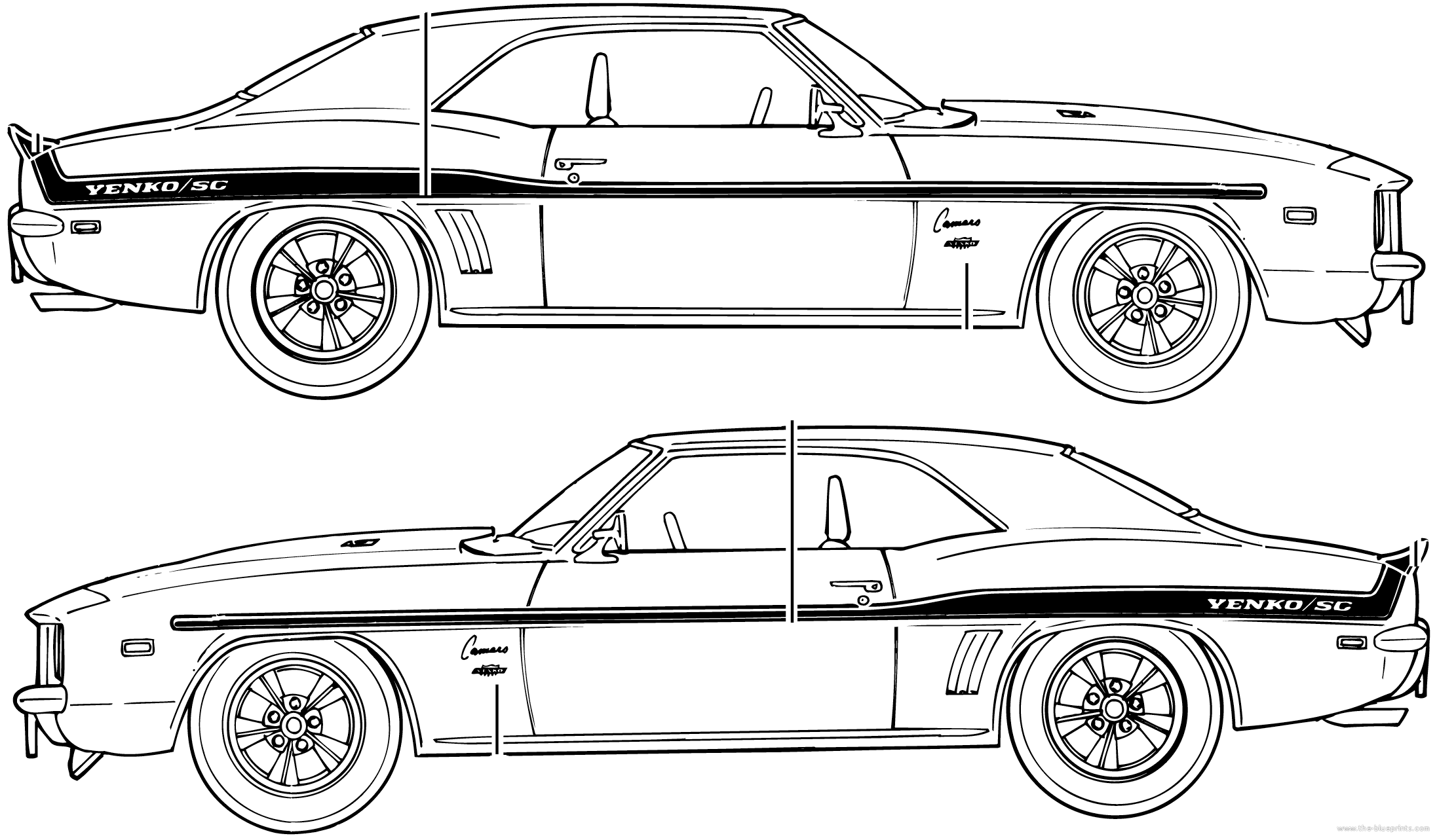 69 Camaro Sketch At Paintingvalley