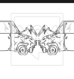1600x699 accident of two cars sketch vector accident sketch [ 1600 x 699 Pixel ]