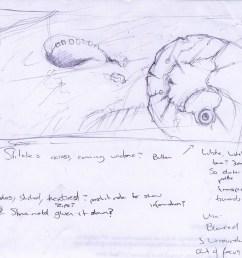 1600x1366 alphaomega concept art amoeba sketch [ 1600 x 1366 Pixel ]