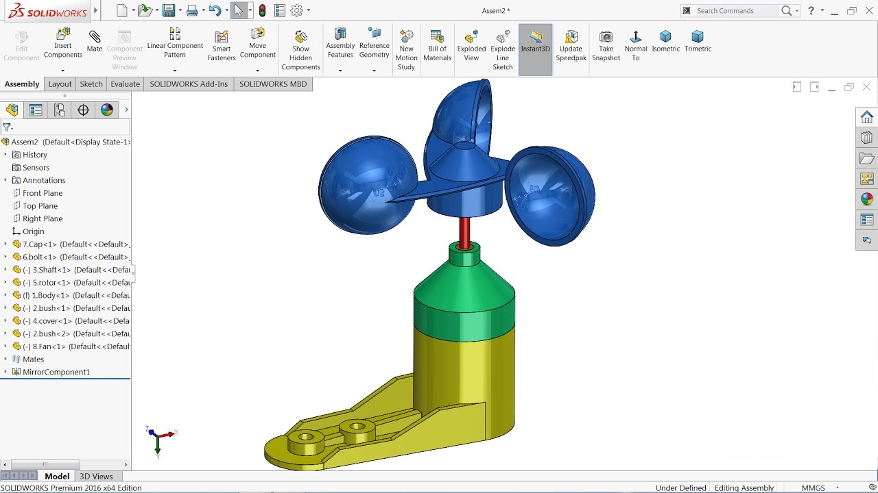 hight resolution of 1280x720 solidworks tutorial sketch anemometer in solidworks anemometer sketch