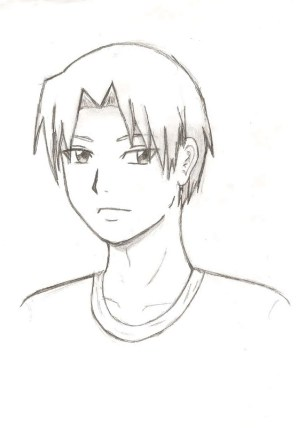 anime boy drawing sketch step guy drawings sketches pencil deviantart easy manga face paintingvalley well pre