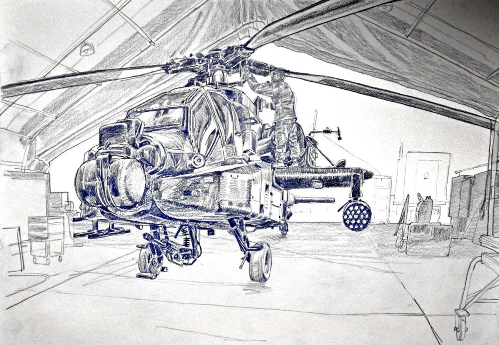 medium resolution of 1200x830 a u s apache helicopter undergoing repairs apache helicopter sketch