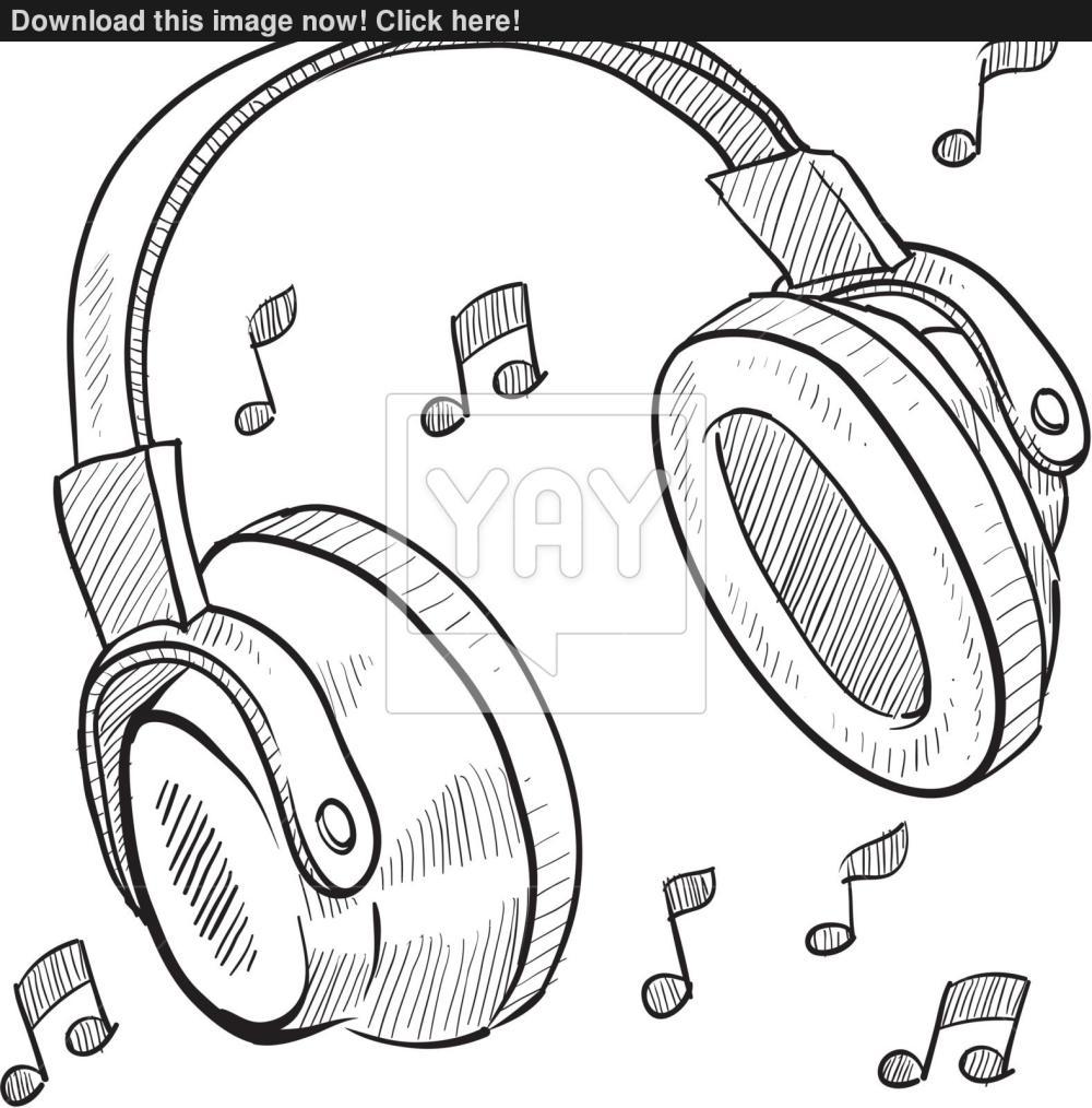 medium resolution of 1577x1600 audio headphones sketch vector audio sketch