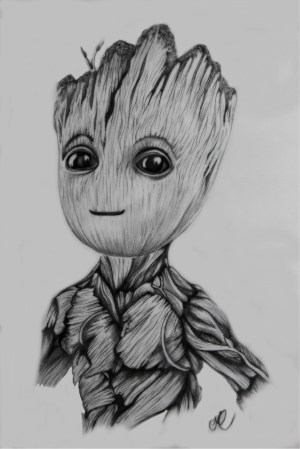 groot drawing drawings sketch disney marvel sketches galaxy pencil avengers characters cartoon guardians dessin easy steemit tattoo fans rehire gunn