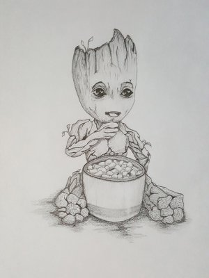 groot galaxy guardians drawing sketch coloring marvel drawings pages sketches deviantart avengers draw am dibujos disney easy step bleistift zeichnungen