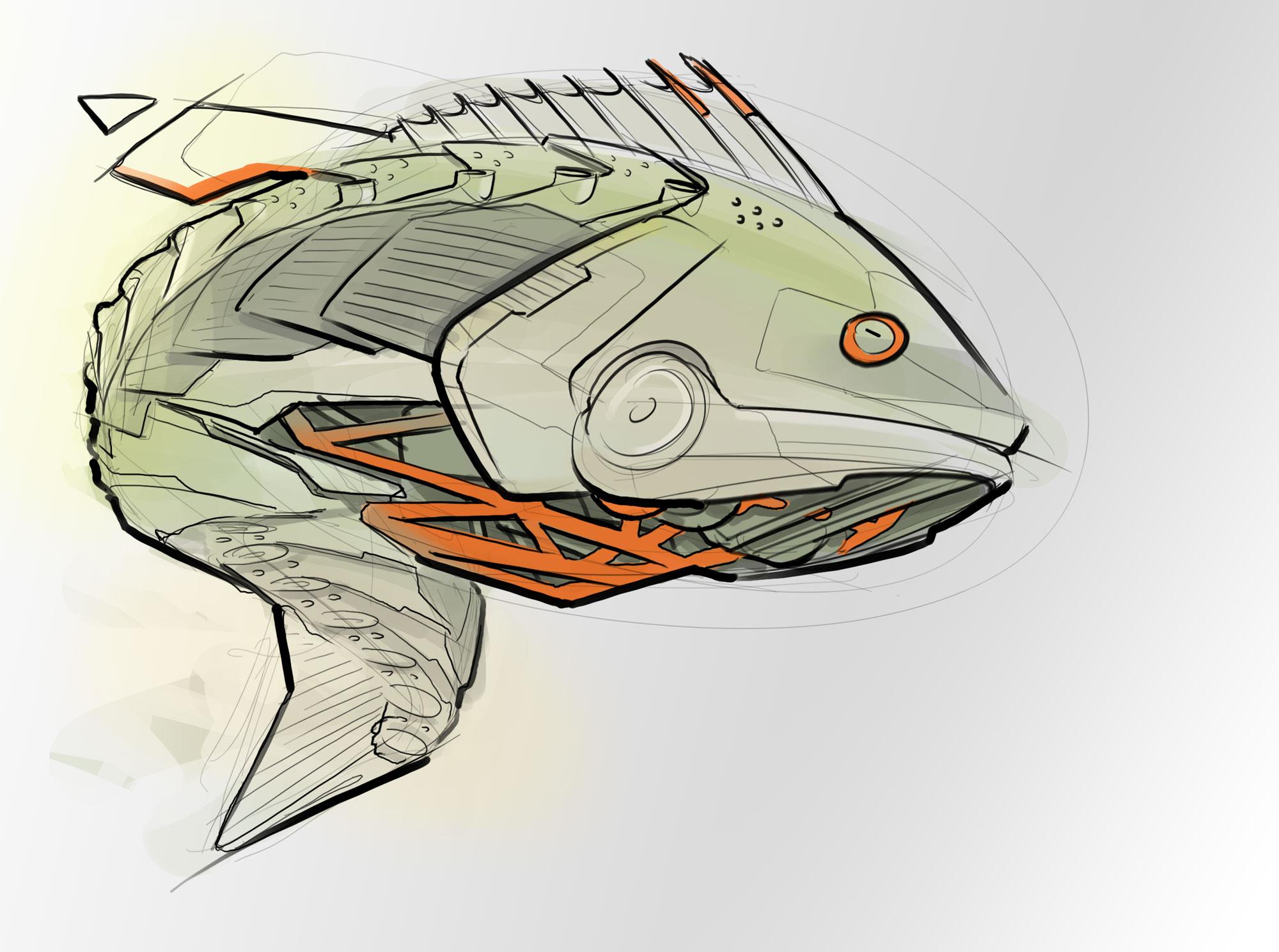 hight resolution of 2000x1489 robot bass concept sketch bass fish sketch