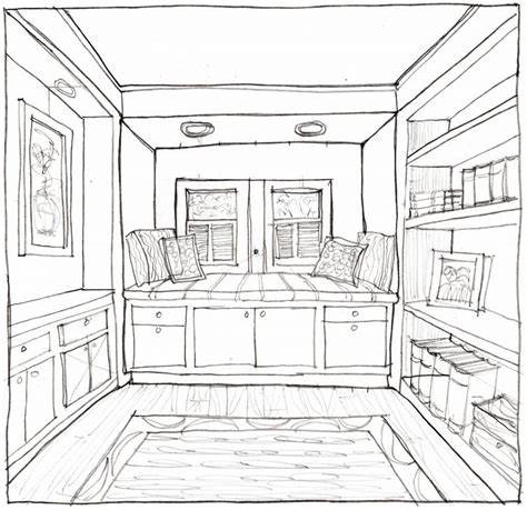 interior: Interior Design Bedroom Sketches One Point