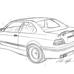 Bmw M3 Sketch At Paintingvalley Com Explore Collection Of Bmw M3 Sketch