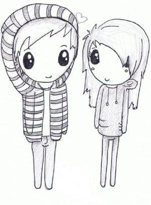 drawings drawing boyfriend draw easy girlfriend sketch deviantart couple sketches anime paintingvalley him mmd pencil random
