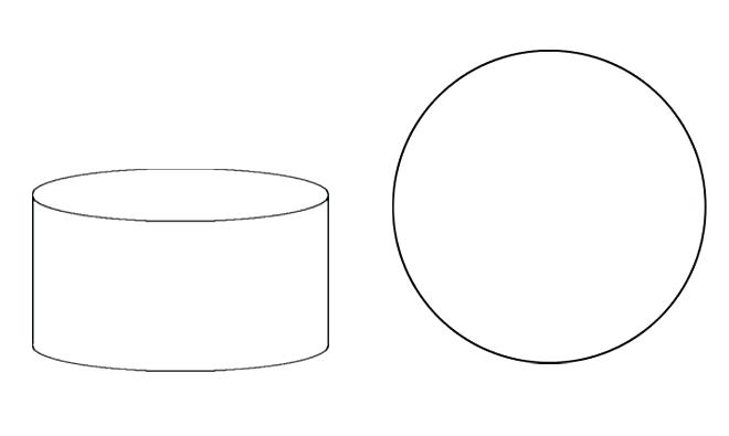 Blank cake templates