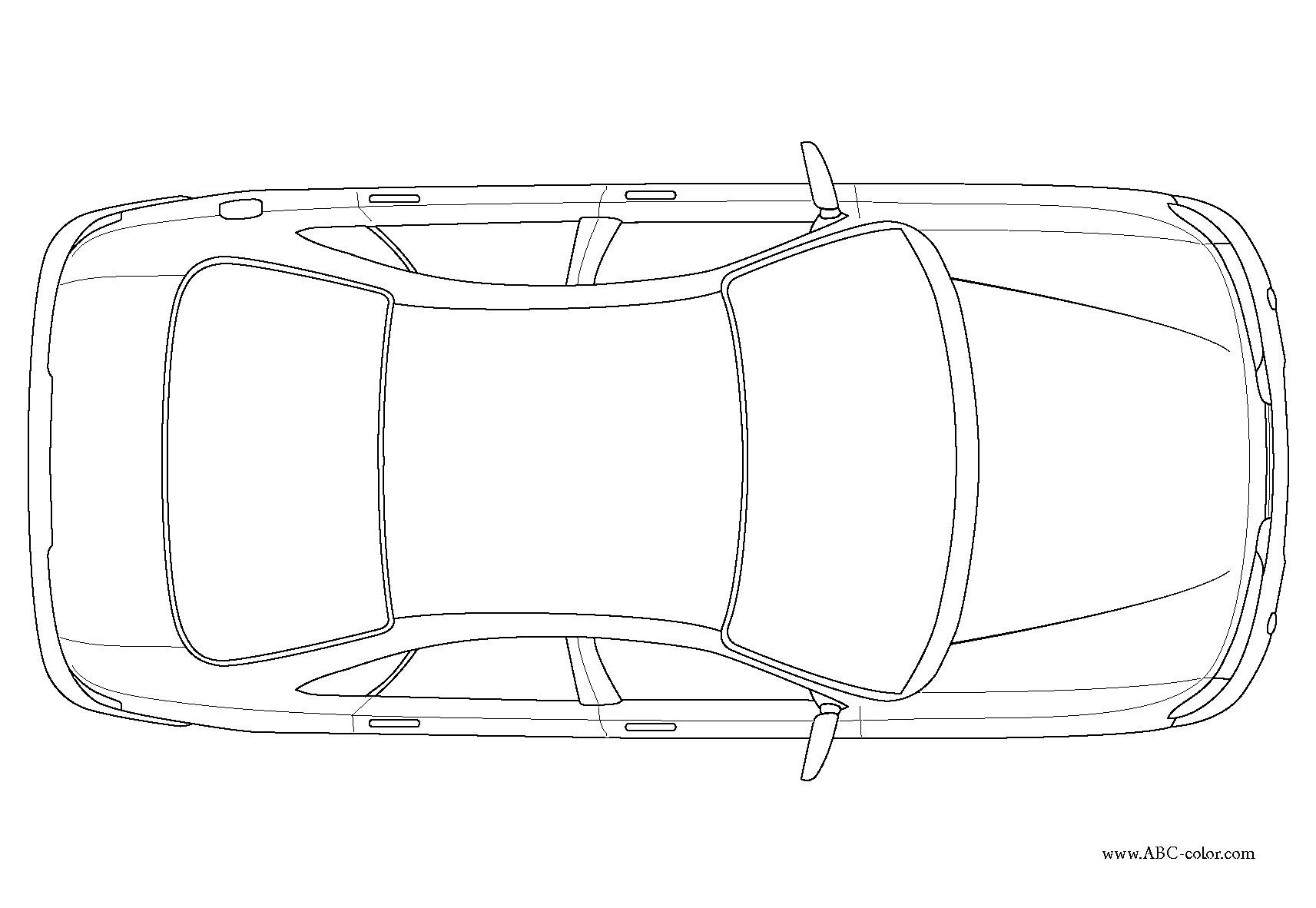 Car Top View Sketch At Paintingvalley