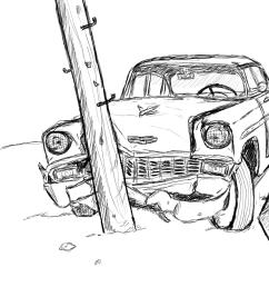 car accident sketch [ 900 x 900 Pixel ]