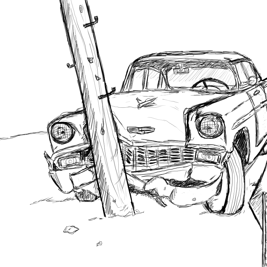 hight resolution of car accident sketch
