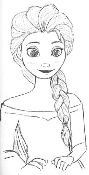 princess disney sketches drawing easy drawings sketch paintingvalley