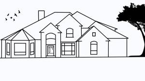 sketch draw easy drawing simple dream houses step modern awesome drowing sketches plans line elevation describe paintingvalley plan everyone way