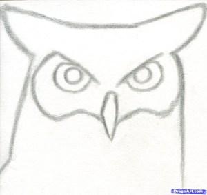 beginners draw easy owl step things horned drawing sketching drawings sketches cool sketch beginner pencil simple animals birds dragoart animal