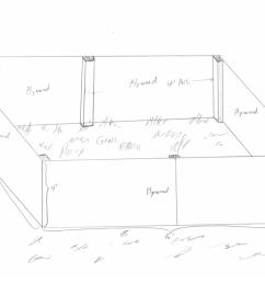 1024x791 large wooden framed liner pond can this work fish pond sketch [ 1024 x 791 Pixel ]