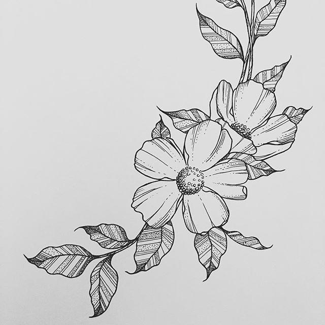 flower art sketch at