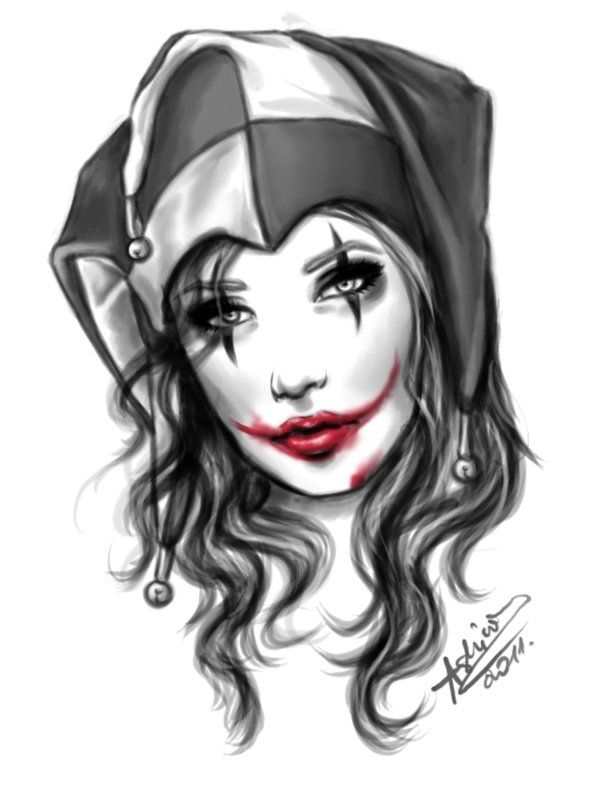Gangster Clown Girl Drawings