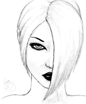 drawings easy drawing girly vampire sketch pencil sketches step simple paintingvalley sad face powerpuff kawaii gothic deviantart