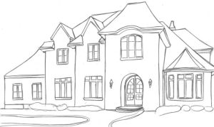 easy sketch simple sketches building paintingvalley plans