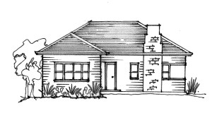 drawing simple houses weatherboard sketch cottage dream easy modern sketching building sustainability sketches types plans homes 1900 roof victoria renovations