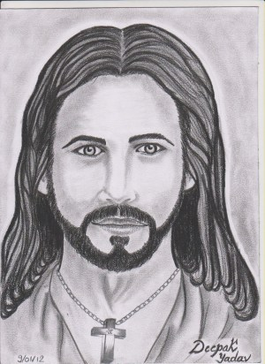 pencil jesus face drawing christ drawings sketch easy simple realistic drawingartpedia paintingvalley sketches paintings