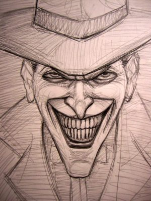 Theunlawyer: Easy Joker Face Dark Knight Drawing