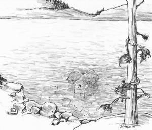 lake sketch drawings pencil sketches paintingvalley nature