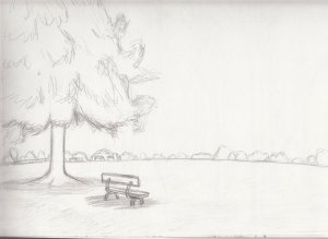 landscape sketch easy sketches simple landscapes beginners drawing drawings scenery whimsy floof google buscar con paintingvalley deviantart explore