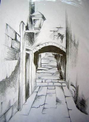 landscape simple sketch pencil easy drawings sketches paintingvalley drawn dra