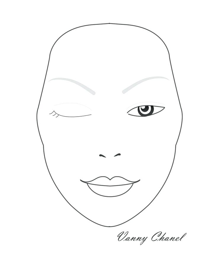 Makeup Artist Blank Sketch Templates
