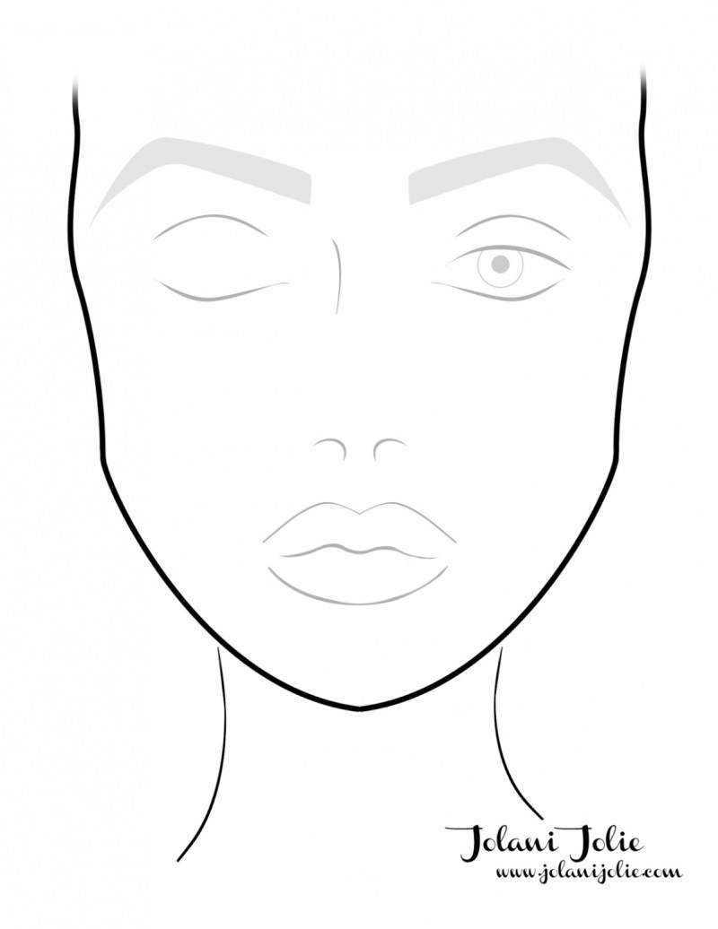 Blank Face Template For Makeup Artist