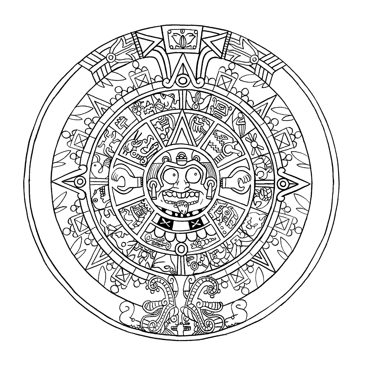 Mayan Calendar Sketch At Paintingvalley