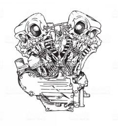1200x1200 stylized knuckle twin motorcycle engine gm lazttweet motorcycle engine sketch [ 1200 x 1200 Pixel ]