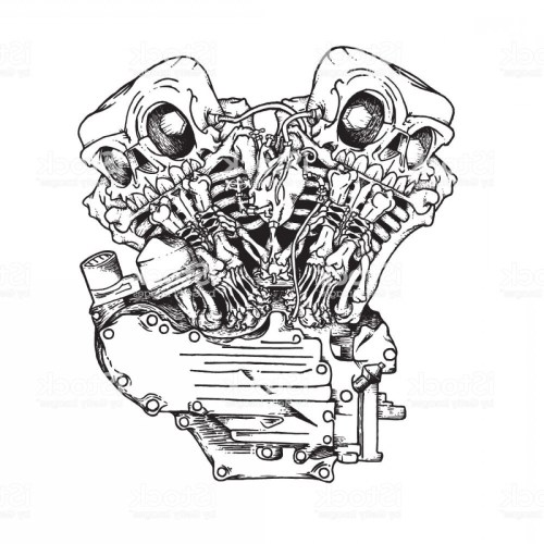 small resolution of 1200x1200 stylized knuckle twin motorcycle engine gm lazttweet motorcycle engine sketch
