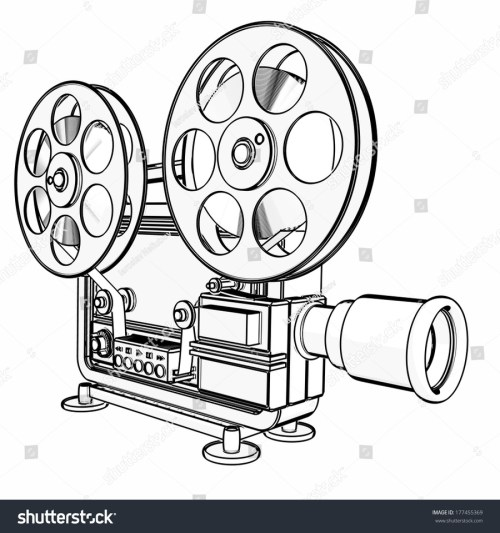 small resolution of 900x960 download cinema projector cartoon outline clipart movie projector movie reel sketch