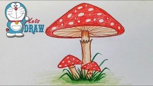mushroom draw easy drawing step sketch very drawings sketches paintingvalley paintings getdrawings