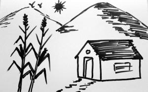 nature easy draw sketches pencil drawings drawing simple sketch beginners step steps line nurture drawn drawingartpedia paintingvalley paintings