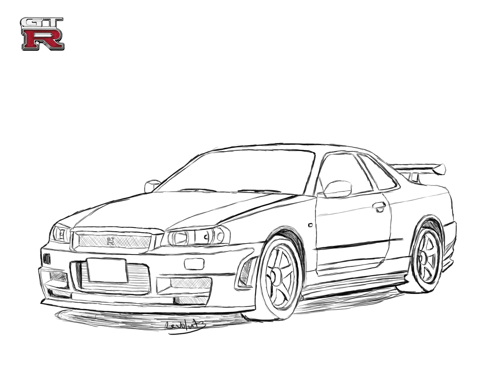 Nissan Skyline Sketch At Paintingvalley