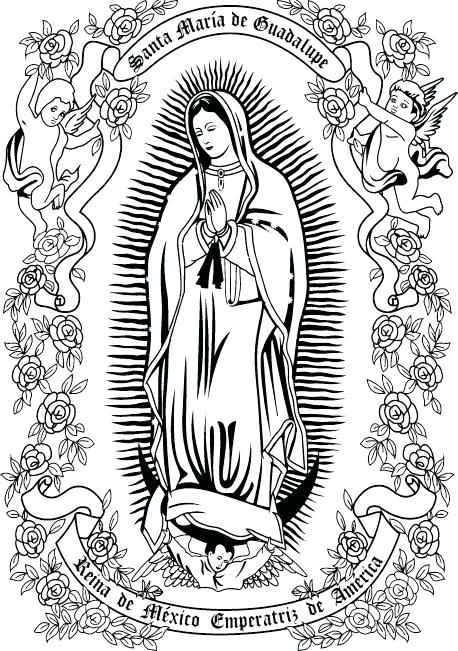 our lady of guadalupe coloring page # 20