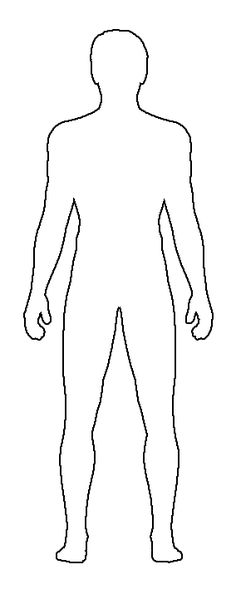 Outline Sketch Of Human Body at PaintingValley.com
