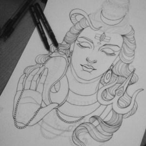 pencil easy drawing sketch shiva sketches god lord drawings mahadev paintingvalley tattoos hindu shiv painting draw progress sketching artists explore
