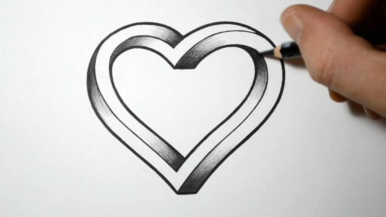 Pencil Sketches Of Love Hearts Chelss Chapman