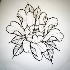 Peony Tattoo Sketches